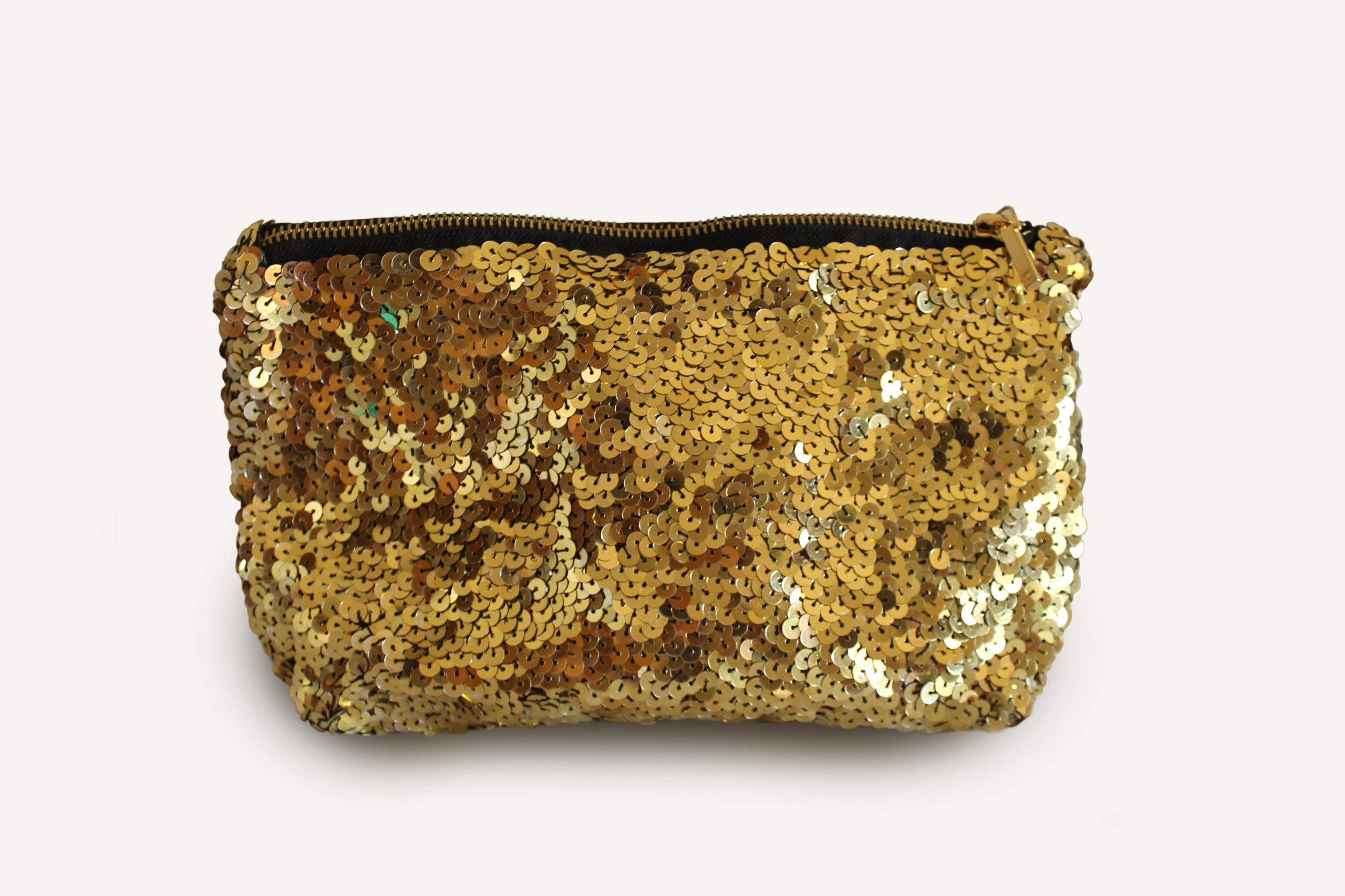 Handmade Gold Sequined Clutch