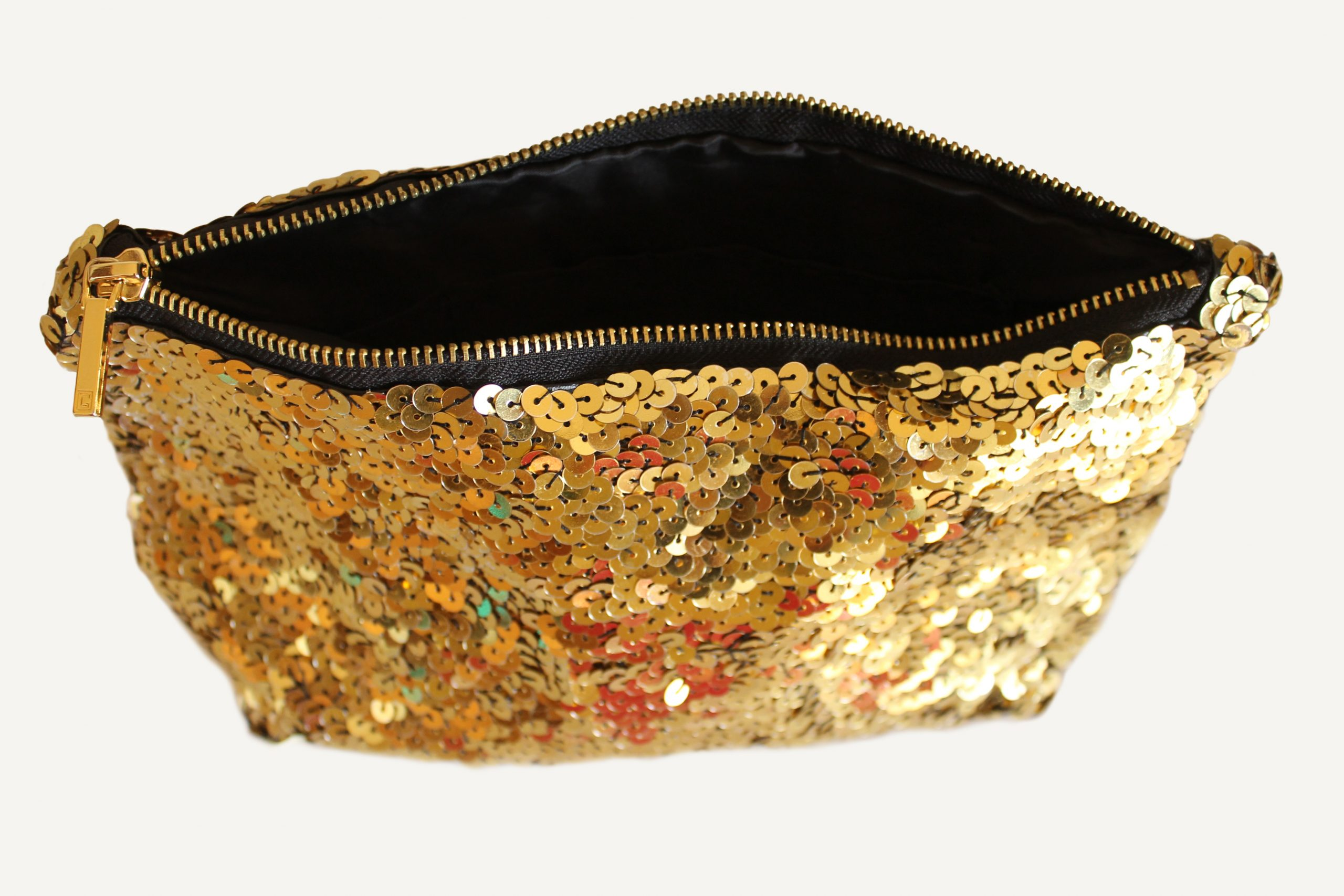 Zara Inspired Gold Sequined Clutch