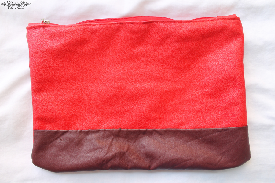 Handmade Red Leather Clutch