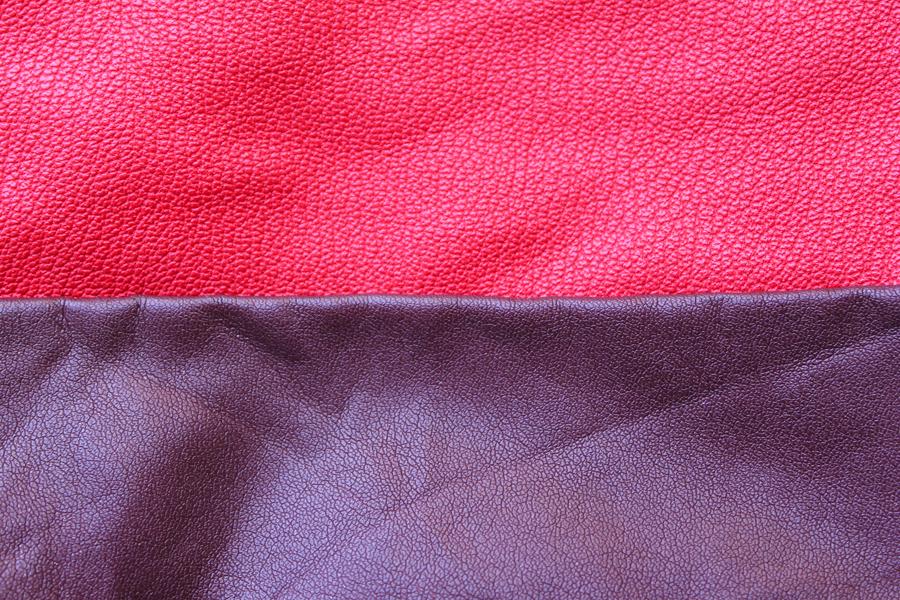 Handmade Colorblock Leather Clutch