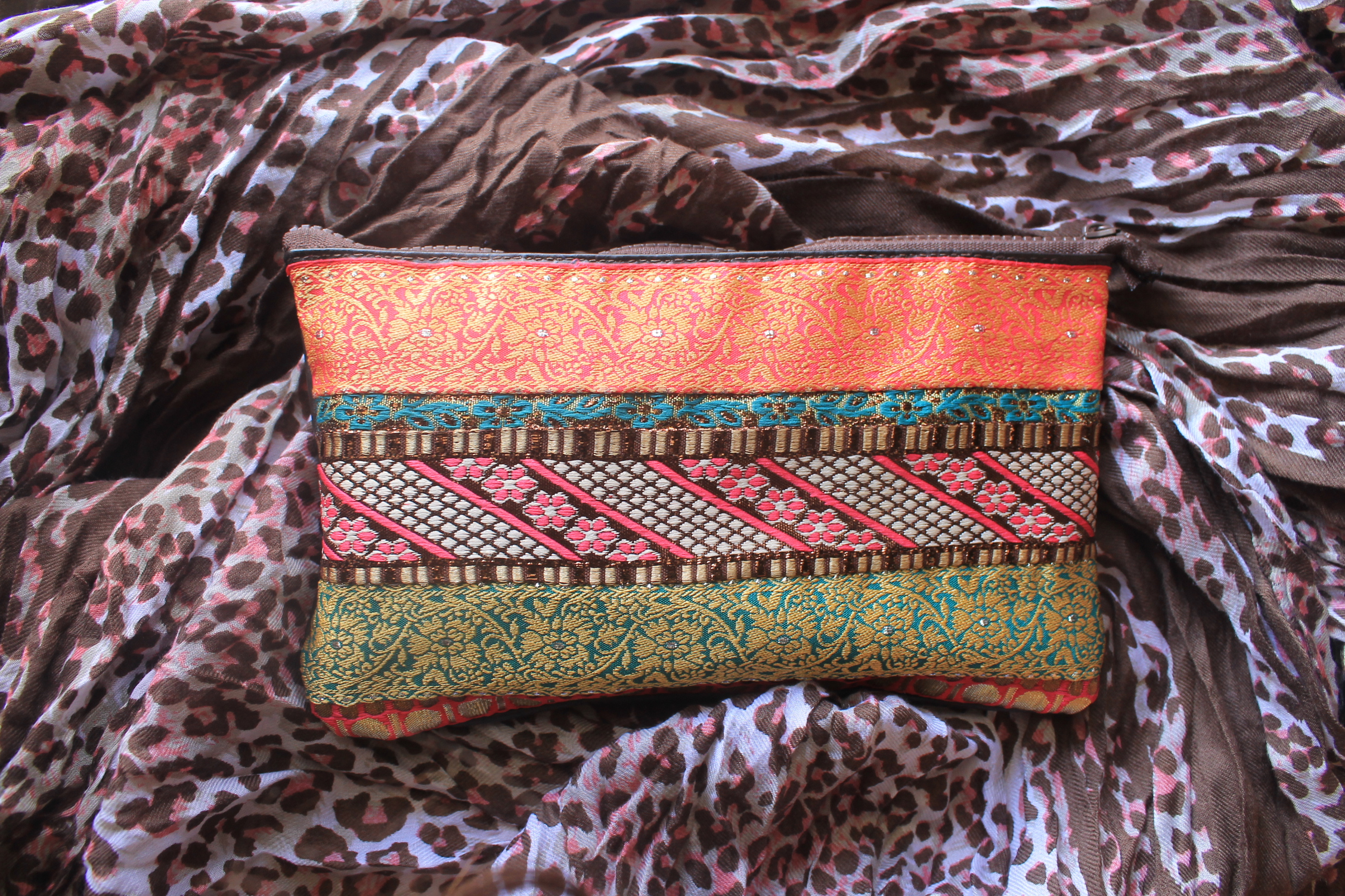 Handmade Embroidered Pencil Case