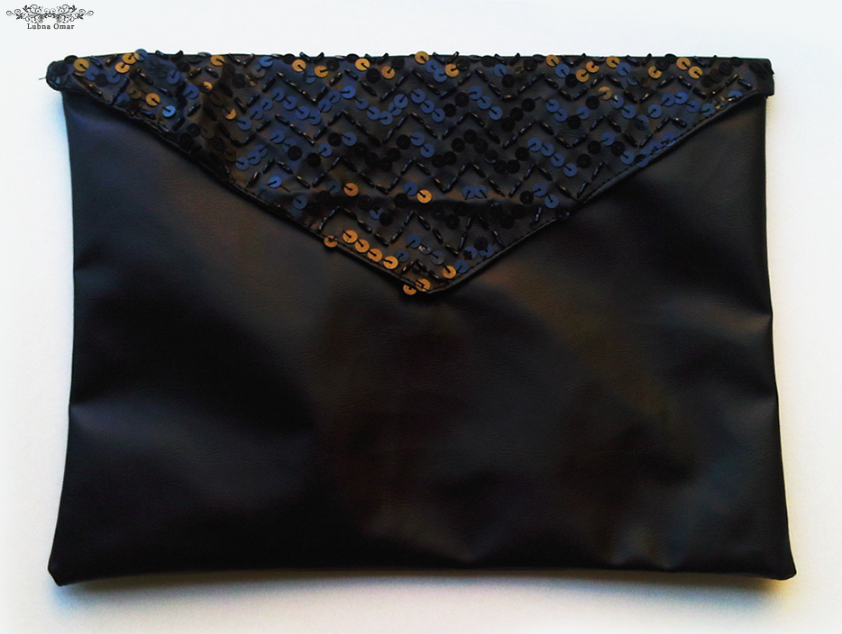 Handmade Sequined Envelope Clutch