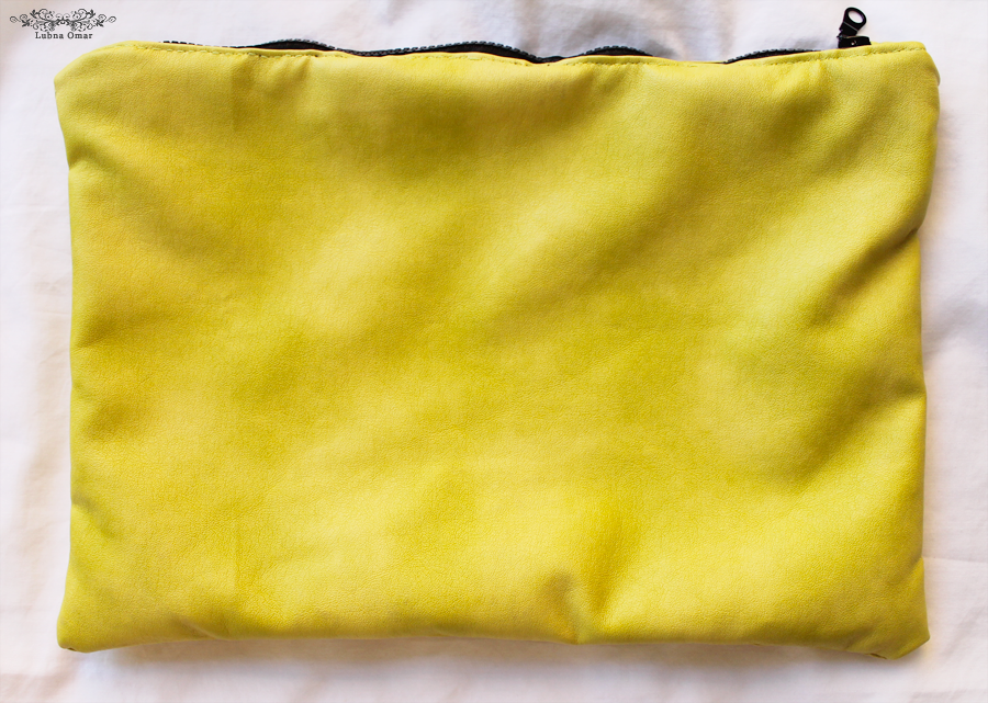 Handmade Lime Green Leather Clutch