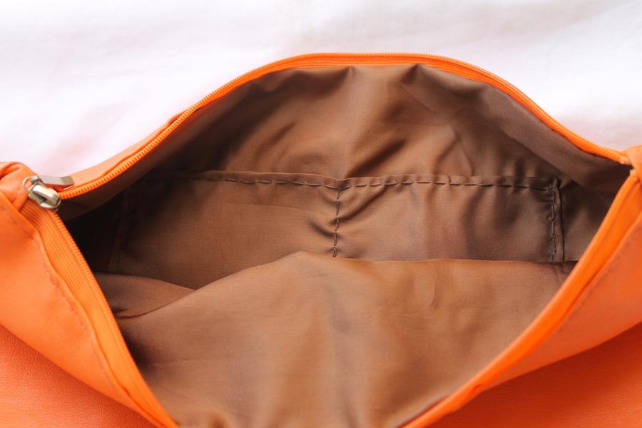 Handmade Orange Leather Clutch