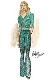 Rosie HW in Balmain x H&M by Lubna Omar