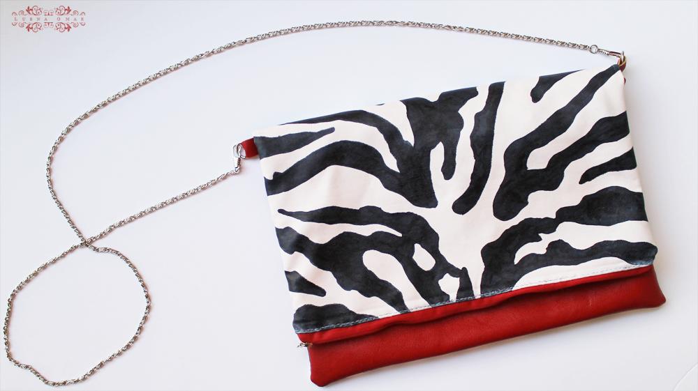 Handmade Zebra Print Clutch