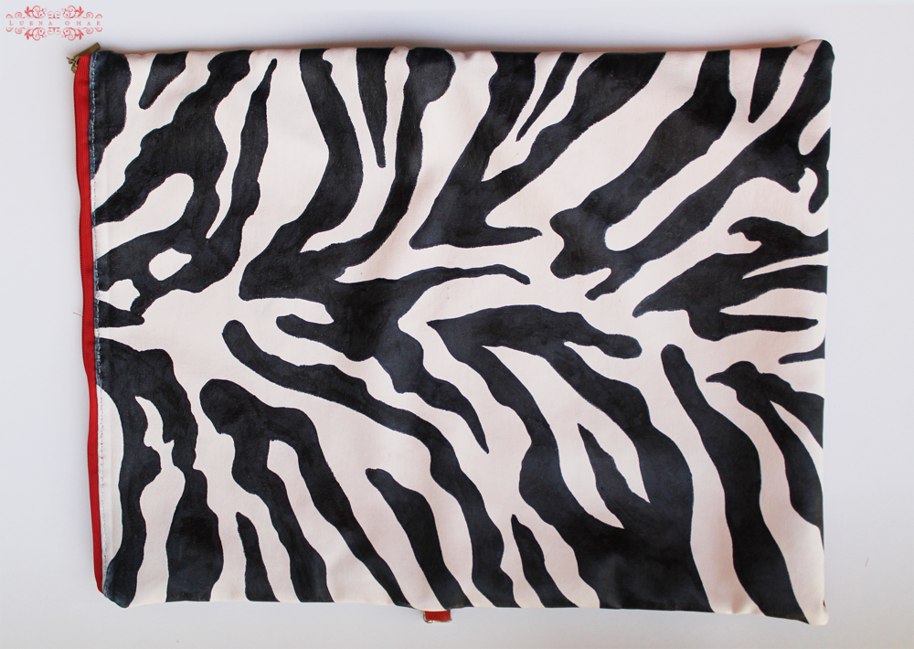 Two-Faced Zebra Print Clutch